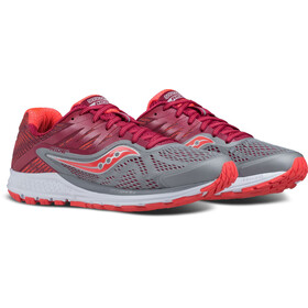saucony Ride 10 Running Shoes Women grey/berry